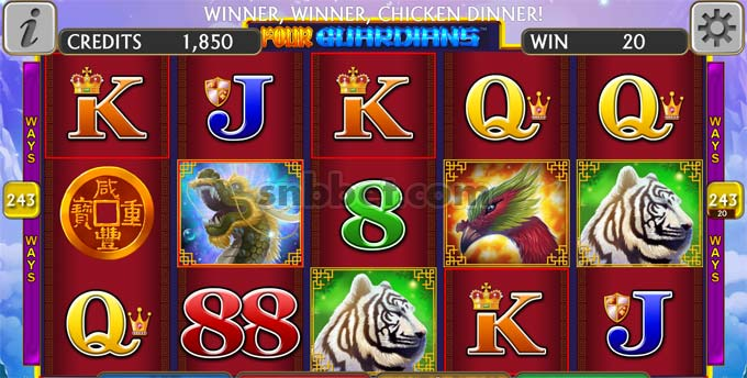 four guardians slot credit